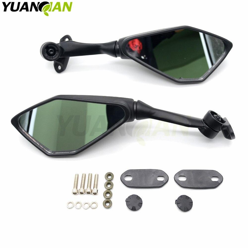 Motorcycle Mirror Black Moto Rearview Side Mirror for yamaha YZF R125 R15 R25 r 125 15 25 mt-07 mt-09 mt 07 09 MT-09 FZ07 FZ09