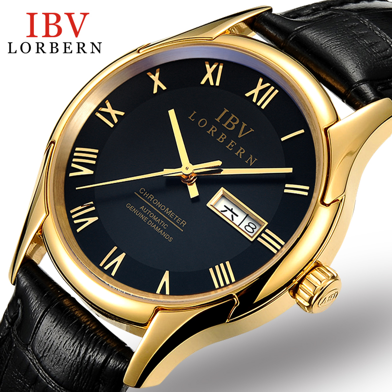 где купить  2017 Time-limited Ibv Automatic Mechanical Watches Men's Fashion Leisure Belt Table Calendar Mens Business Double Waterproof  по лучшей цене