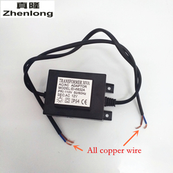 Zhenlong AC110V/AC220V-240V To AC 12V Power switch LED Swimming Pool Light Transformer 30W Waterproof 12V Power Supply