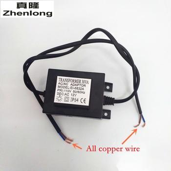 Zhenlong AC110V/AC220V-240V To AC 12V Power switch LED Swimming Pool Light Transformer 30W Waterproof 12V Power Supply