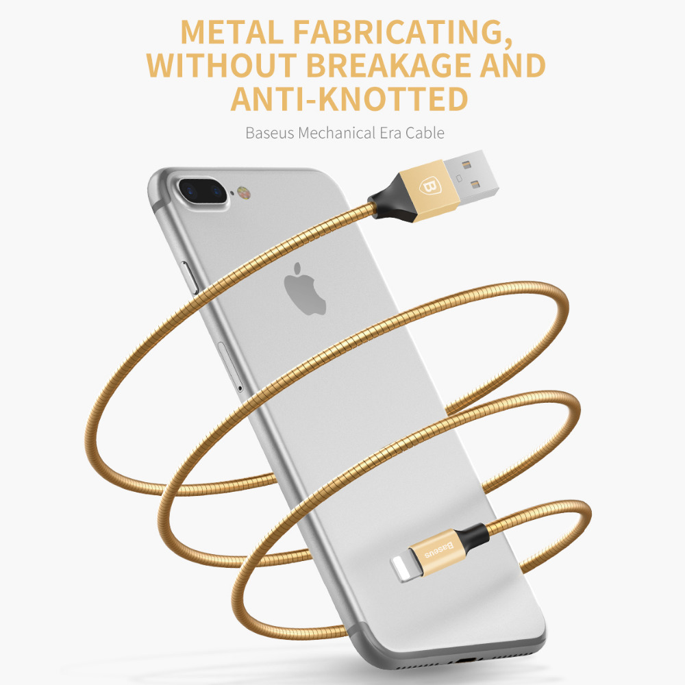 Metal phone charging line for iPhone 5s 6s 7 for apple lightning to usb cable for