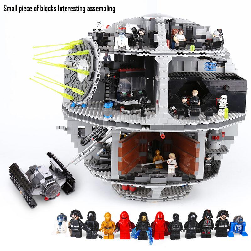 DHL 05035 Death รุ่น Star series Building Blocks ชุดอิฐเข้ากันได้กับ 10188 เด็กการศึกษาของเล่น DIY-ใน บล็อก จาก ของเล่นและงานอดิเรก บน   1