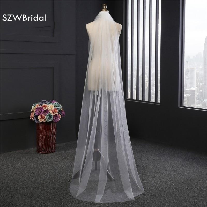 New Arrival vestido de noiva Lace casamento duvak Bridal veil 2019 Cheap wedding accessories sluier Veu de noiva wedding veil