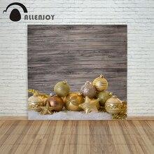 background photo christmas photography Retro Wood ball Golden stars xmas vinyl color camera prop funny merry