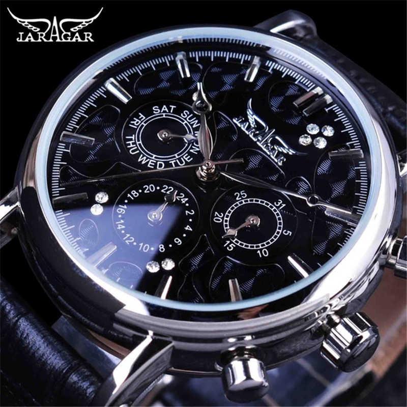 Jaragar メンズ自動機械式腕時計高級ブランドデイデイトファッション自己巻男性は革新しい腕時計ドロップシッピング
