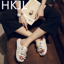 HKJL 2019 new summer sandals female Korean all-match sport wind thick soles muffin bottom beach shoes A295