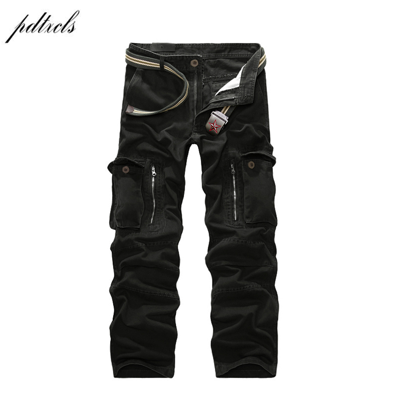 49 2018 Good Quality Military Cargo Pants Men Hot Camouflage Cotton Men Trousers 7 Colors(China)