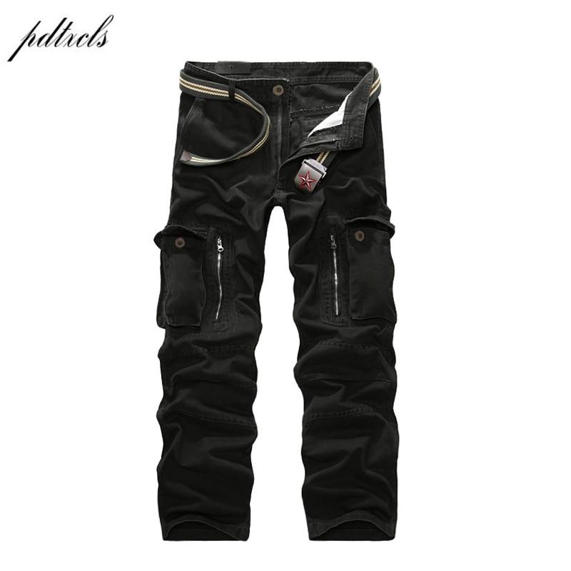 49 2018 Good Quality Military Cargo Pants Men Hot Camouflage Cotton Men Trousers 7 Colors