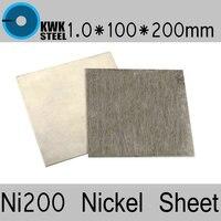 1 100 200mm Nickel Sheet Pure Nickel ASME Ni200 UNS N02200 W Nr 2 4060 N6