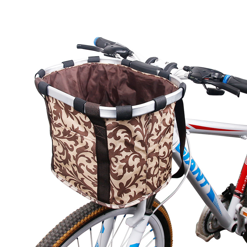 Bicycle Basket High Quality Bicycle Aluminum Alloy Frame Pet Carrier Bike Detachable Cycle Bike Front Carrier Bag Pet Carrier цена