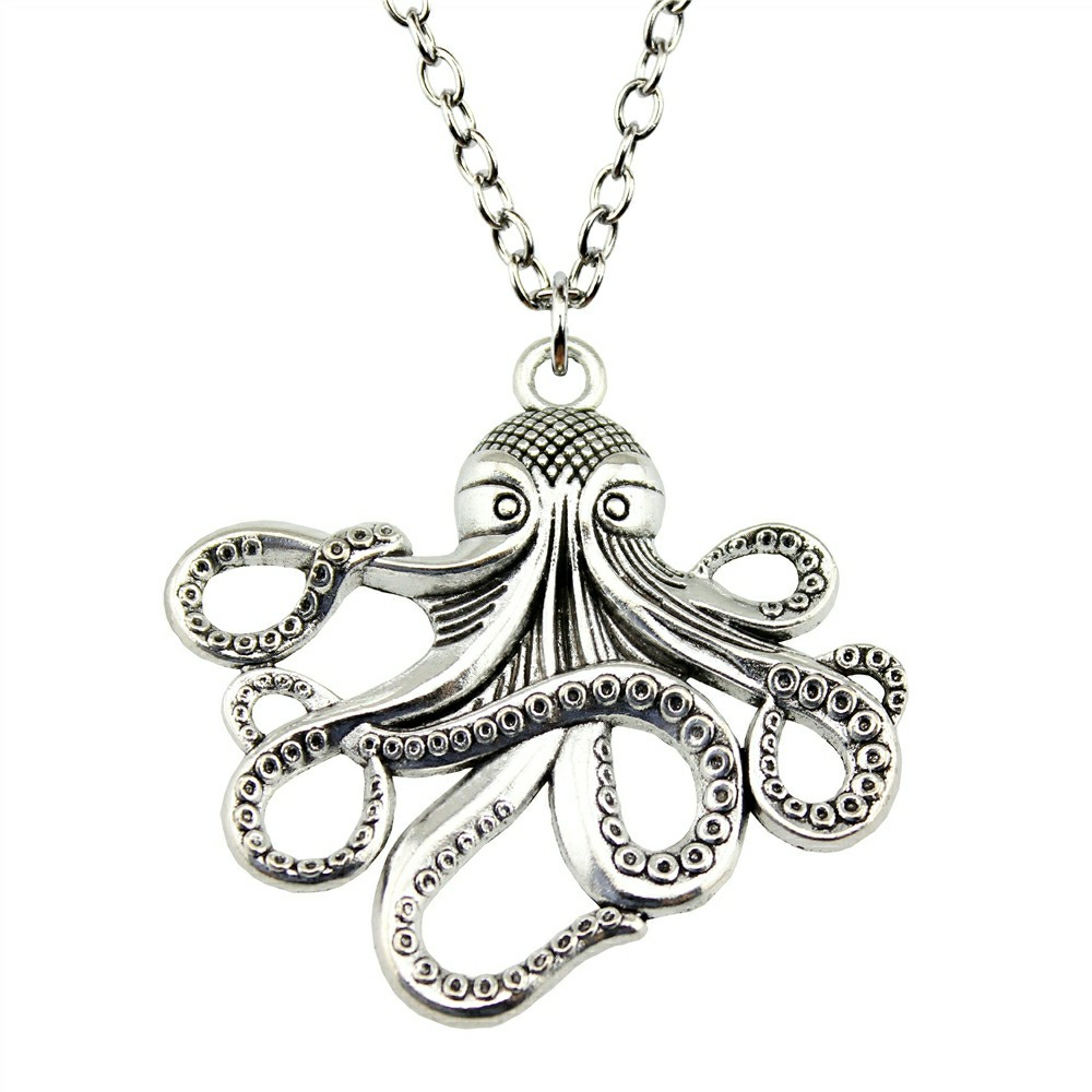 octopus chain on with pendant cord black