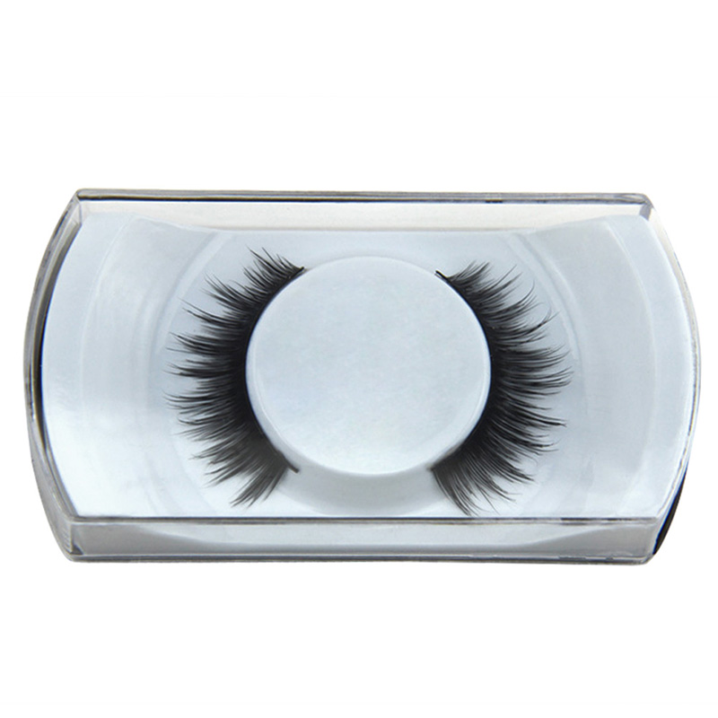 Fashion Handmade Bushy Fake Eye Lashes Mink Hair Woman Eye Makeup Natural Extention False Eyelashes Cosmetic Tool
