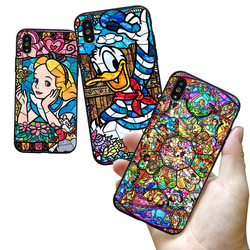 Pooh Fairy Tattoo Alice Mickey Mouse Deluxe TPU Rubber Phone Case iPhone 8 7 6 6s Plus X 5 5s SE XS XR XS MAX cover 4