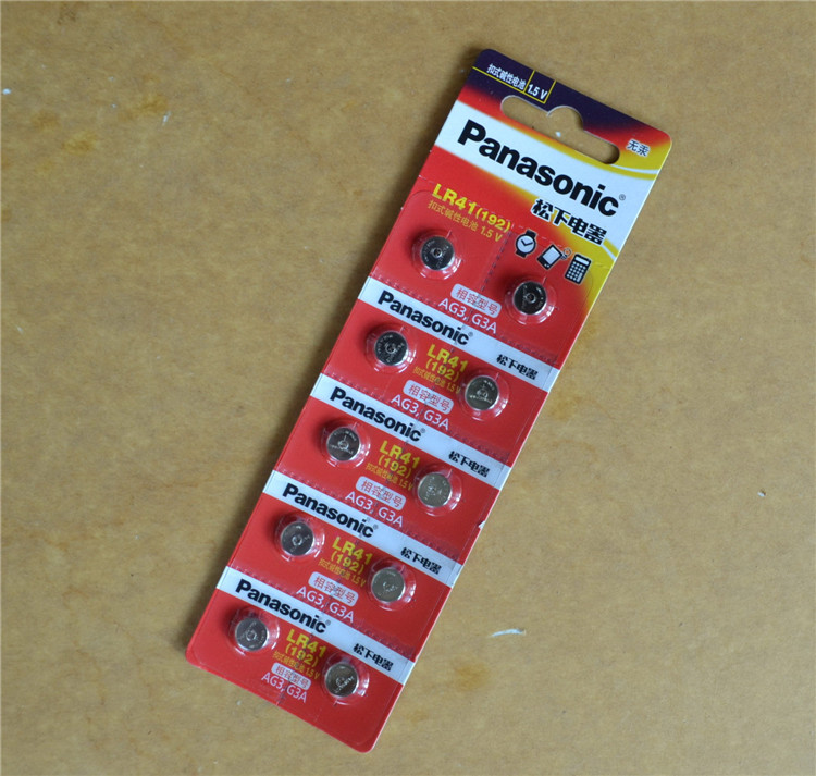 10pcs/lot Panasonic LR41 Button Cell Battery LR 41 SR41 AG3 G3A L736 192 392A Zn/MnO2 1.5V Lithium Coin Batteries Cell