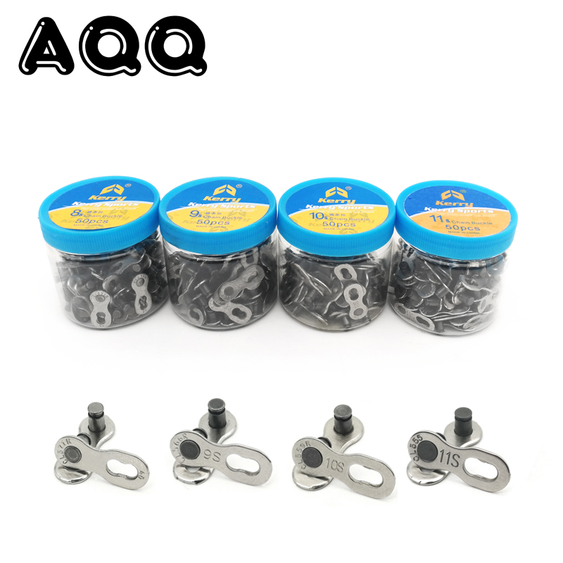50 pair Bike Chains Mountain Road MTB Bike Chain Connector for 6/7/8/9/10 Speed Quick Link Repair Tool Parts Bicycle Bike Chain