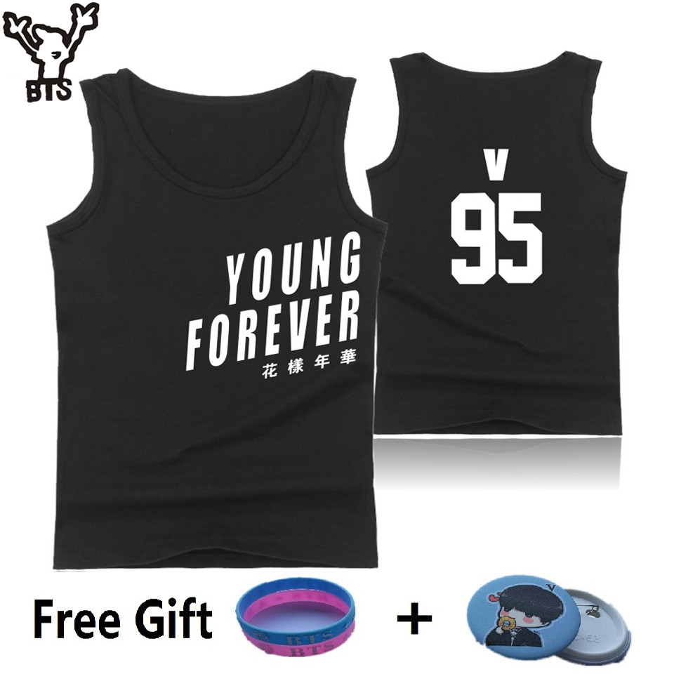 BTS K-pop Tank Top Wome Summer Sleeveless Fashion Bangtan Bodybuilding Tank Top Korean Popular Hip Hop Female Fans Casual Vest ...