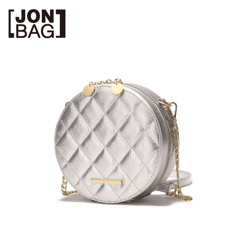Jonbag маленькая сумка 2019 новая модель куртки с хлопковой подкладкой в Корейском стиле женская сумка Lingge круглый мешок из полиуретана на высоком уровне air один на плечо округлая сумка - 2