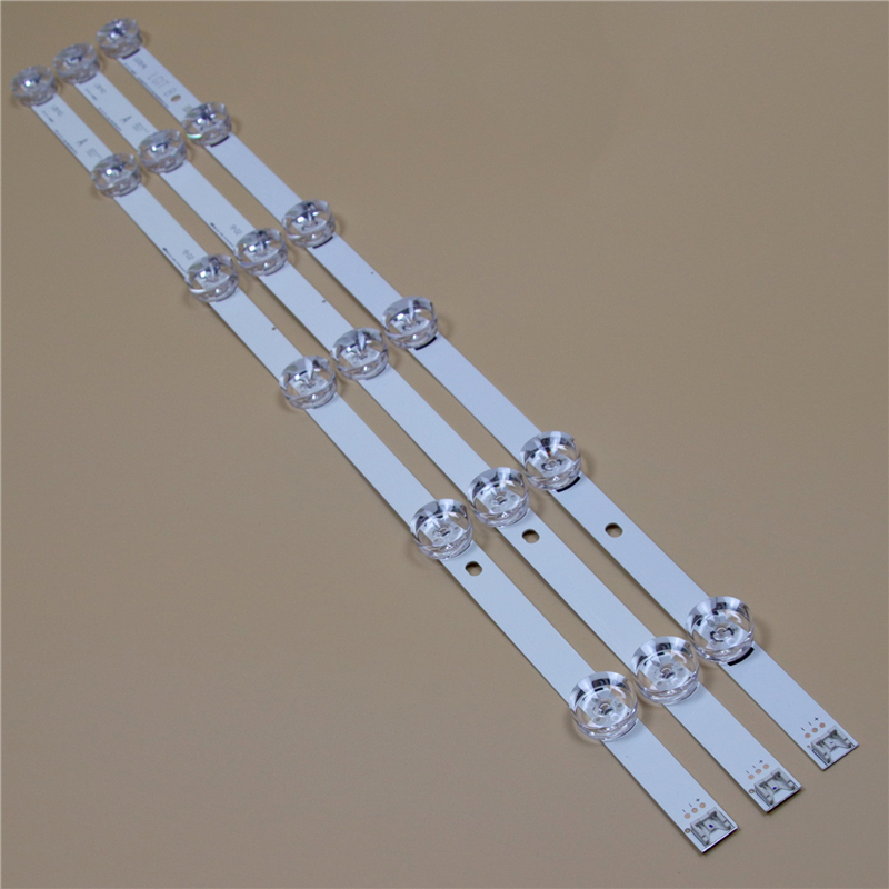 TV LED Bars For <font><b>LG</b></font> 32LF5600 32LF5610 32LF560B 32LF560U <font><b>32LF560V</b></font> 32LF564U 32LF565B LED Backlight Strip Kit 6LED Lamp Lens 3 Bands image
