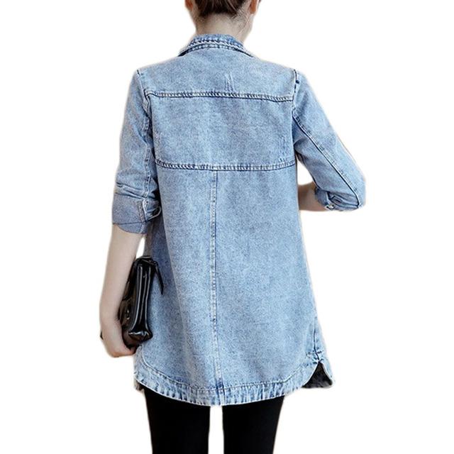 Women's Spring Long Denim Jacket