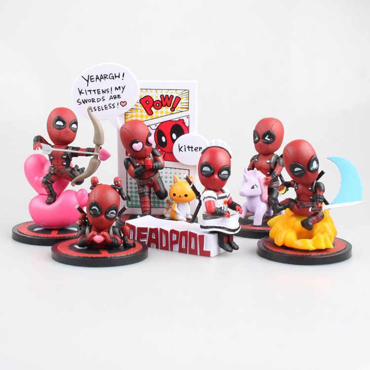 Deadpool Engraçado Escala Pintada Figura Unicorn Unicórnio selfie selfie Presentes PVC Action Figure Coleção Toy Modelo com Caixa