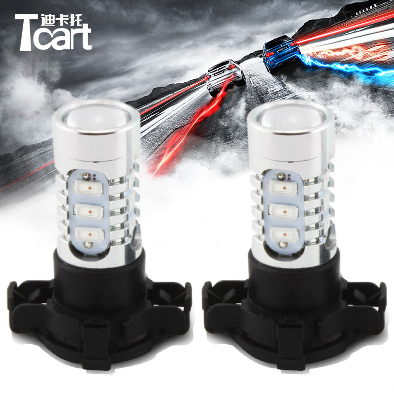 Tcart 2x PY24W White Yellow LED Bulb <font><b>Front</b></font> Turn Signal <font><b>Lights</b></font> For <font><b>BMW</b></font> <font><b>E90</b></font> E91 E92 E93 328i 335i M3 X5 E70 X6 E71 F10 F07 image