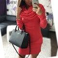 Beforw chegada nova queda na moda high street tricolor quente estilo coreano com capuz casuais das mulheres do vintage xadrez de lã dress