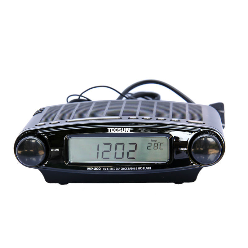 Tecsun MP-300 FM Stereo DSP Clock MP3 Player Radio free shipping tecsun mp 300 fm dsp clock radio usb mp3 player high sensitivity stereo radios ats retail package
