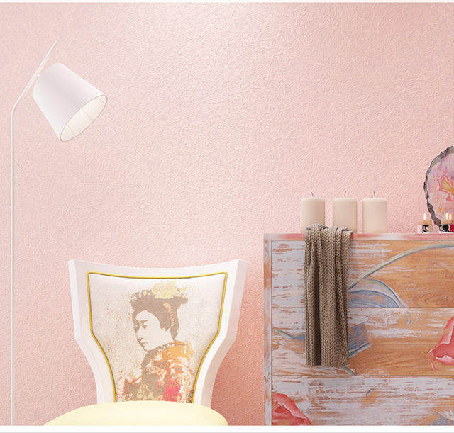HaokHome Moderne Einfarbig Vlies Tapete Rosa Orange wandverkleidung ...