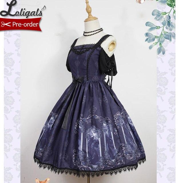 b3b659227f Sweet Cold Shoulder Lolita Dress Nightmare Spell Series Printed JSK Dress  for Women