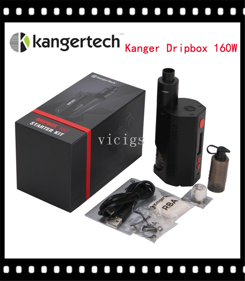 100% Original Kanger Dripbox 160 Starter Kit with 7ml Capacity Subdrip RDA Atomizer and TC 160W Dripmod 160 original joyetech cuboid starter kit 150w cuboid temp control mod firmware upgradable cubis atomizer 3 5ml tank capacity