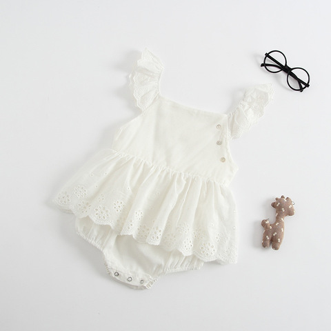 Baby Girl Clothes Summer Sleeveless Newborn Baby Dress Cotton Lace Infant Romper Style  Dress For Girls Princess Baby Clothes Lahore