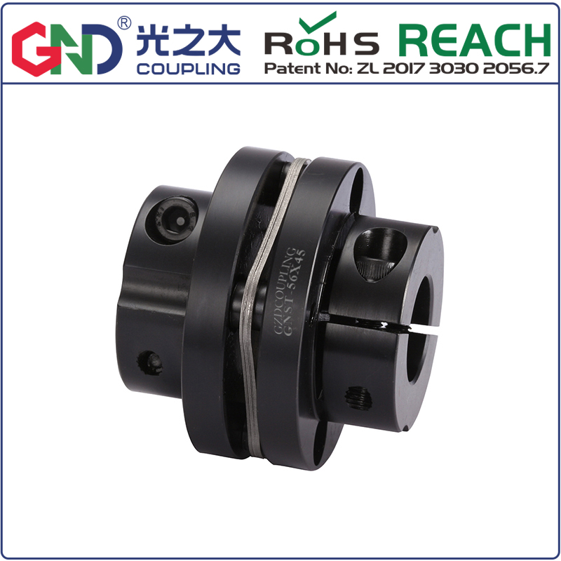 Shaft coupling GNST 45# Steel Step Type Single Diaphragm Clamp Series GND BAND coupler D82mm to D126mm; L68mm to L78mmShaft coupling GNST 45# Steel Step Type Single Diaphragm Clamp Series GND BAND coupler D82mm to D126mm; L68mm to L78mm