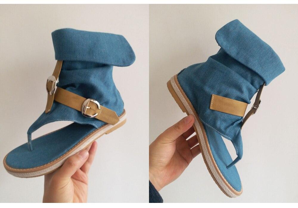 HTB1.TJ0LFYqK1RjSZLeq6zXppXaI CDPUNDARI Ladies Denim Flat sandals for women Platform Sandals summer shoes woman Gladiator Sandals sandalias mujer 2019