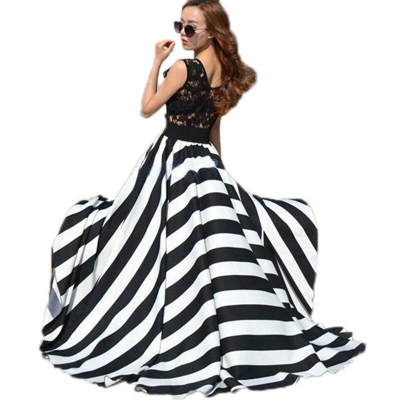 Summer dress 2017 boho de las mujeres ahueca hacia fuera el cordón del ganchillo