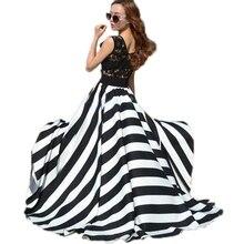 Stripe Sleeveless O-neck Boho Beach Long Maxi Party Dresses
