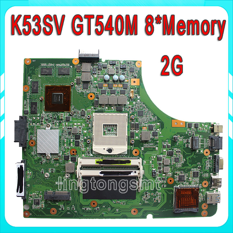 K53SV for ASUS motherboard K53SV k53S X53SV A53S Mainboard N12P-GS-A1 REV 3.1 2.1 3.0 2.3 8 memory 2G full test brand new pbl80 la 7441p rev 2 0 mainboard for asus k93sv x93sv x93s laptop motherboard with nvidia gt540m n12p gs a1 video card