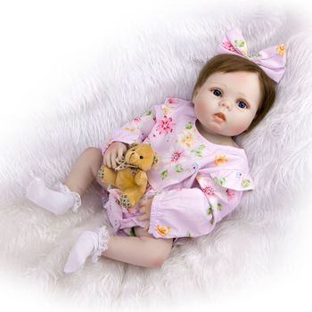 23 Inch reborn bebe Girl Doll Full Silicone Vinyl reborn baby dolls Realistic Princess Baby Toy Doll For Children's Day Gifts
