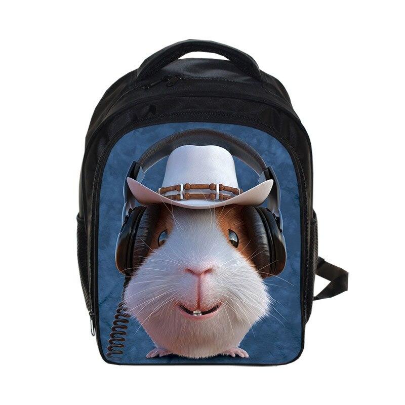 Cute 3D Animal Face Print Backpacks For Children Mochila Feminina Backpack For Kindergarten Kids School Bags