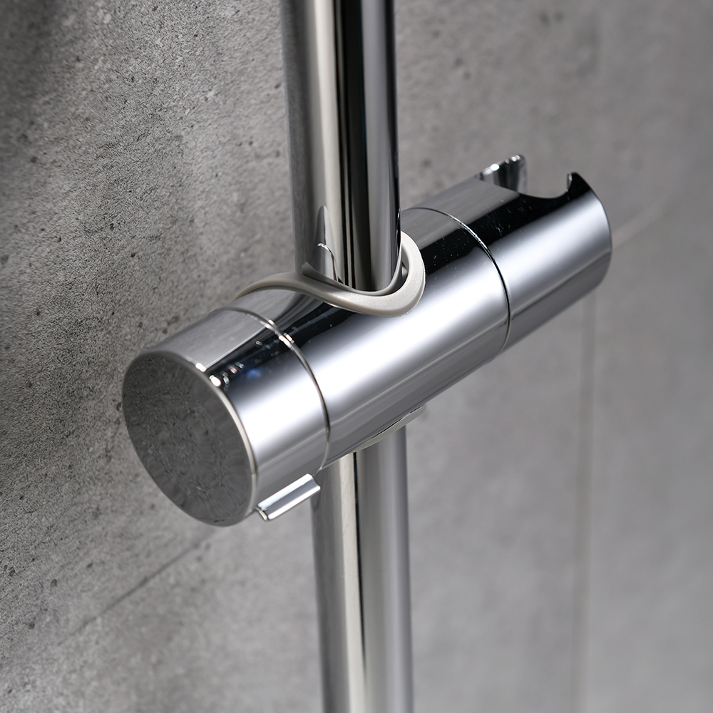 ABS Chrome Shower Head Holder Adjustable 22-25MM Bathroom Shower Bracket Rack Slide Bar Bathroom Faucet Accessories Shower