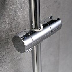ABS Chrome Shower Head Holder Adjustable 22-25MM Bathroom Shower Bracket Rack Slide Bar Bathroom Faucet Accessories Shower