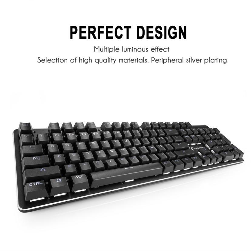 NEW 1.8m 104 Keys Wired USB Waterproof Mechanical Gaming Keyboard For Desktop Laptop for LOL DOTA CF Ergonomic Design Waterproof