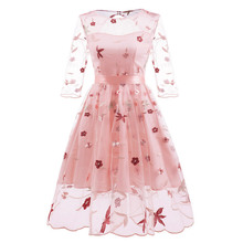 robe de soiree manual embroidery evening dress Elegant Lace Up Dinner formal Retro gown Party Dresses