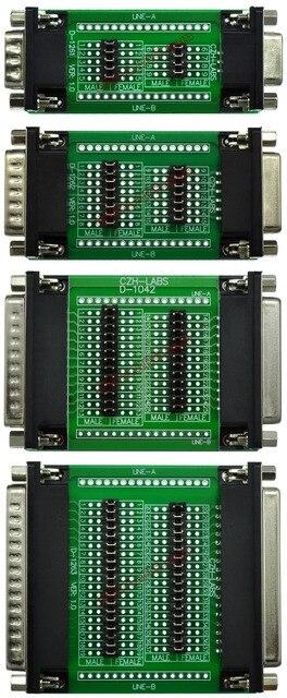 CZH LABS Combo Package Dsub DB9 DB15 DB25 DB37 Diagnostic Test Breakout Boards.