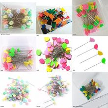 100Pcs Stainless Steel Dressmaking Pins Embroidery Patchwork Accessories Tools Sewing Needle DIY
