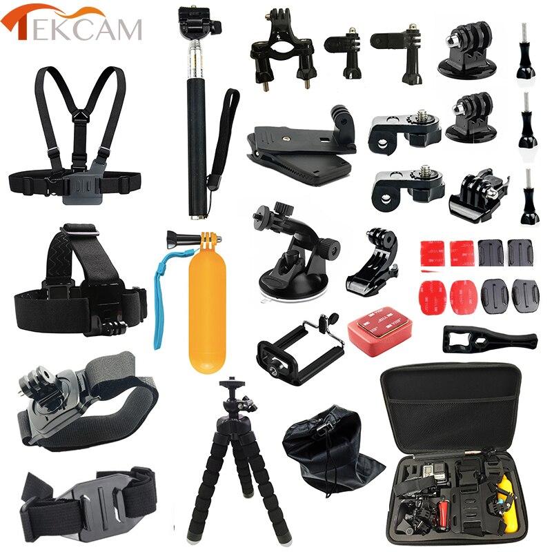 Tekcam Accessories set for go pro hero 5 4 3 gopro session for SJCAM SJ4000 M20