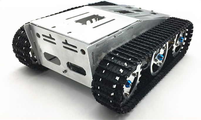 4wd Metal Tank Smart Crawler Robotic Chassis  Toy Car  for Mini  RC Robot Spare Parts F22503