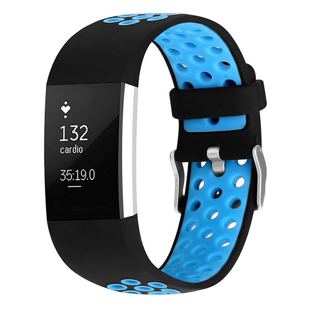 1e7ebf47f67 Smart Band Strap Bracelet Multi-hole Replacement Strap for FitBit Charge 2  blue