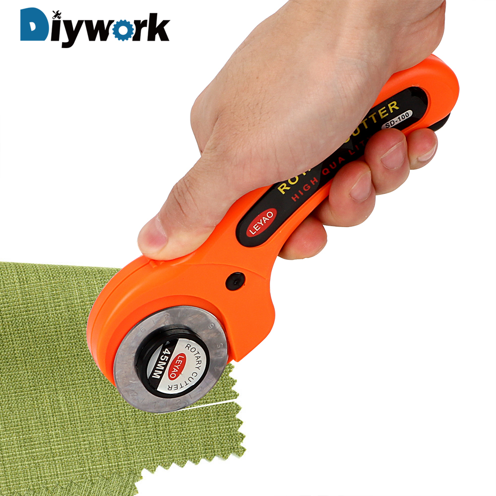 DIYWORK Cuts Fabric Leather Paper Vinyl Etc Cloth Cutter Blade Sharp Rotary Cutter Round Hob 45mm Premium Quilters Sewing