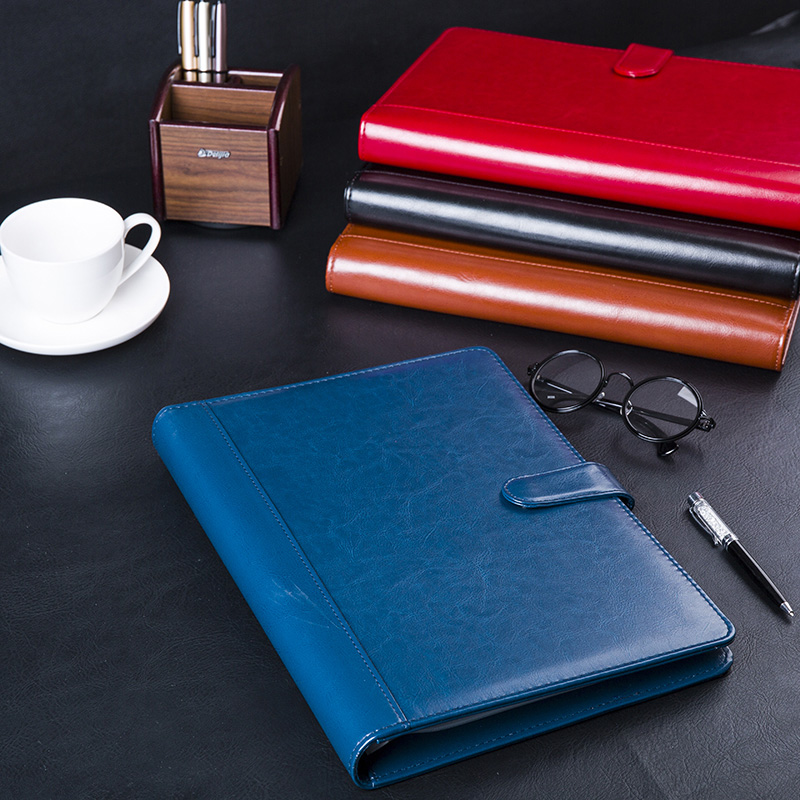 PU leather A4 folder conference manager folder file document bag with card pocket folder for documents folders W031