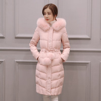 2017 New Winter Jacket Women Hooded Thicken Coat Female Fashion Warm Outwear Down Cotton Padded Fox